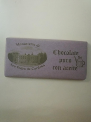 Chocolate puro con aceite.